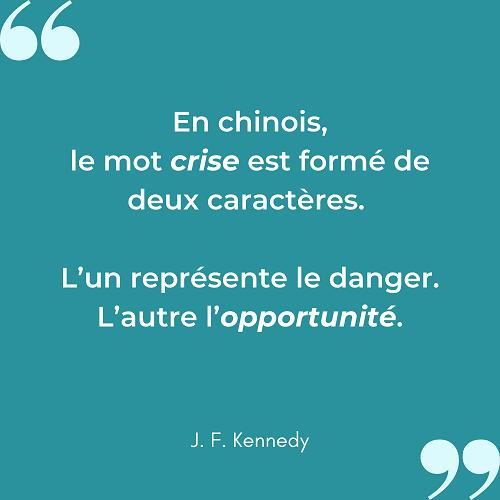 Citation inspirante crise opportunité Kennedy 1