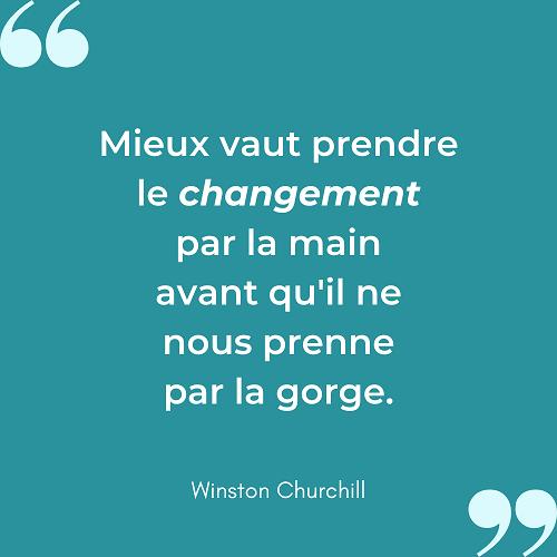 Citation changement par la main Winston Churchill