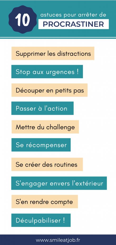 10 astuces pour arrêter de procrastiner et remettre au lendemain