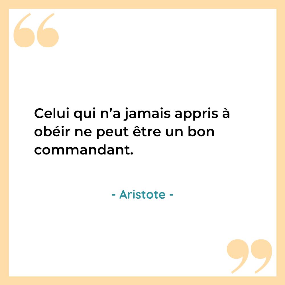 Citation inspirante commandant Aristote
