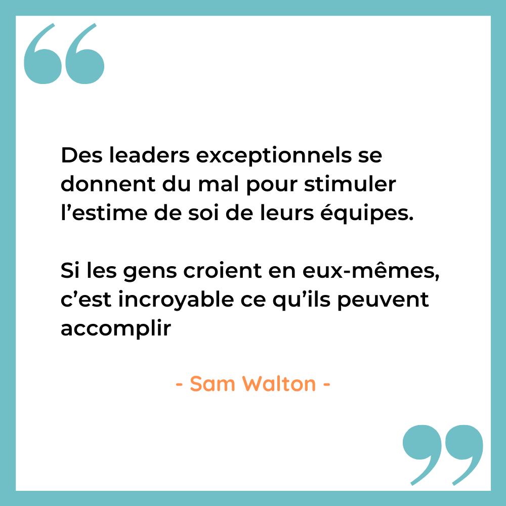 Citation inspirante leadership sam Walton 1