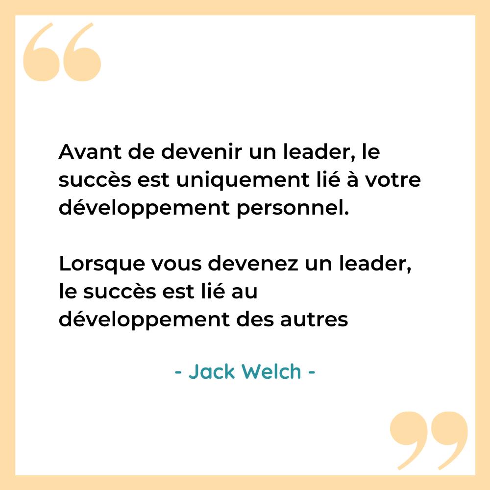 Citation leadership developpement personnel Jack Welch