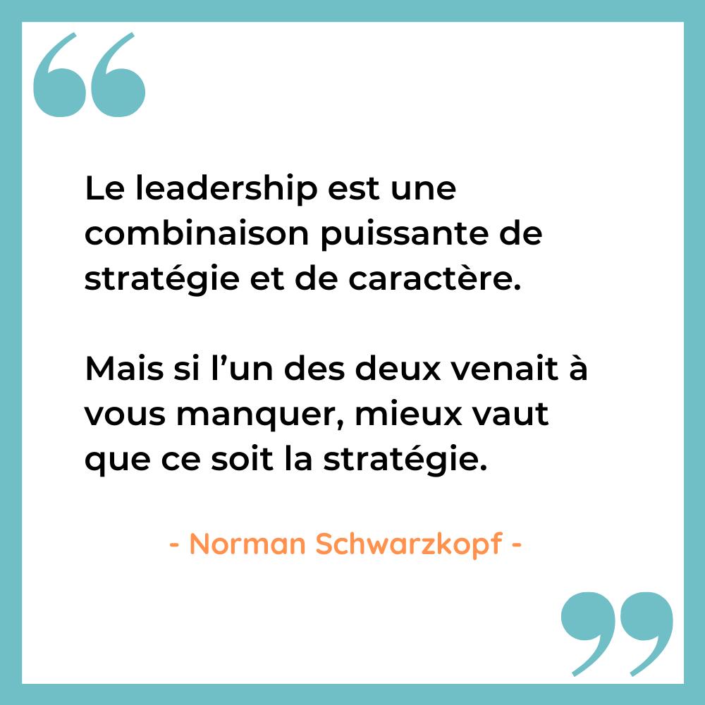 Citation leadership stratégie Schwarzkopf 2
