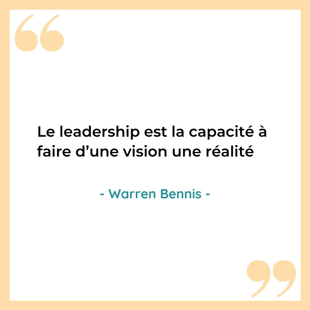 citation leadership vision Warren Bennis