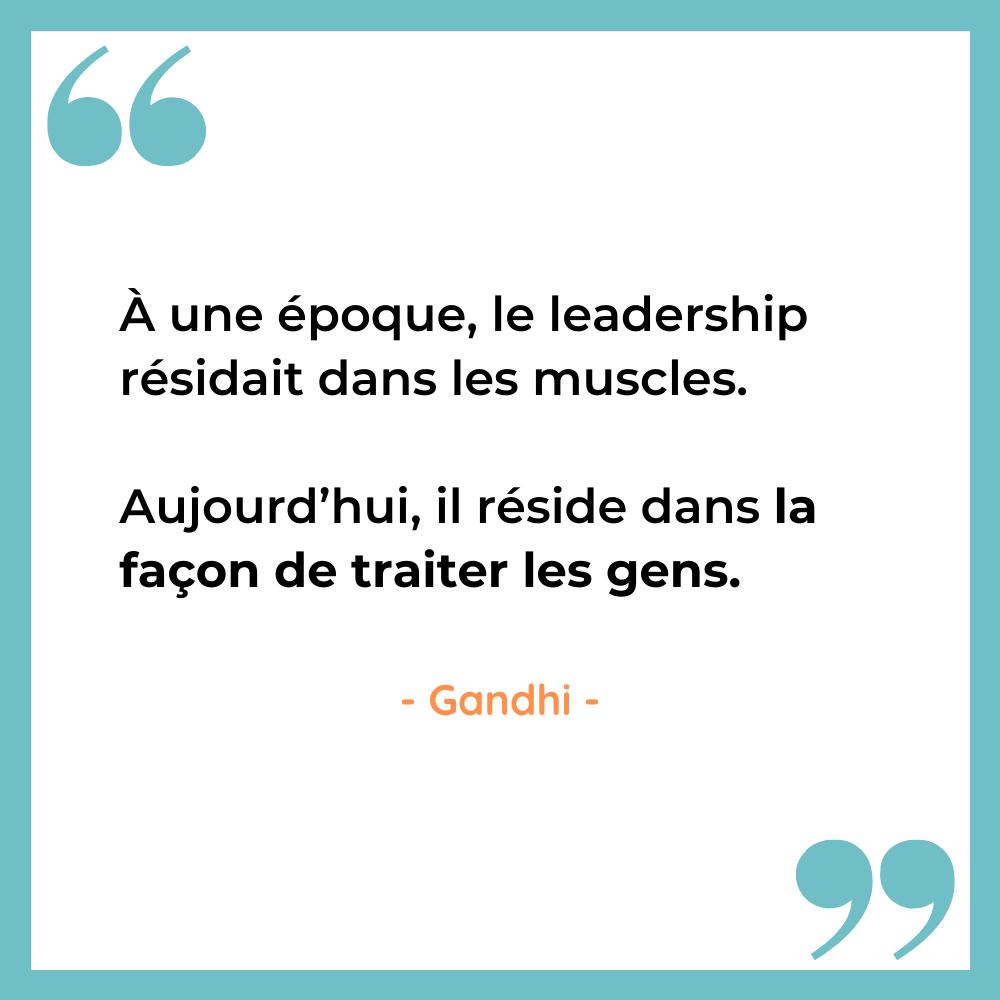 le leadership selon Gandhi 3